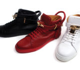 Buscemi sneakers with 18 karat gold plated lock