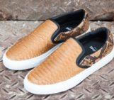 Diemme Garda Snakeskin Slip-On Sneakers