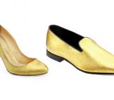24-carat gold velvet shoes by Alberto Moretti