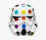 "Damien Hirst Decorates Stormtrooper Helmet for ""Art Wars"""