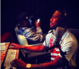 Me and @treysongz In The Studio