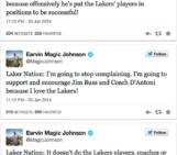 Magic Johnson Declares Cease-fire On Jim Buss & Mike D'Antoni