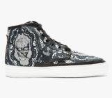 Alexander McQueen Black Skull and Lace Footwear