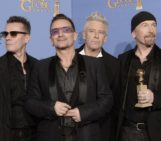 U2 Wins Golden Globe For 'Mandela,' Shouts-Out New Manager Guy Oseary