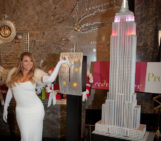 Mariah Carey Flicks It Up At The Empire State Building's 20th Annual Valentine's Day Weddings Event