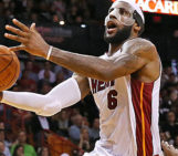 LeBron James' 61 points in win set career, Heat records