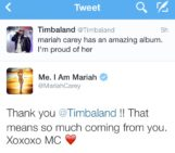 Timbaland Tweets About The New Mariah Album