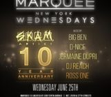 Tonight!!! NEWYORK @SKAMARTIST takes over @MarqueeNY with @djdnice @jermainedupri @djrossone @DJReach & @DJBIGBEN #10YR