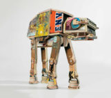 'Star Wars' AT-AT Scultpure Made from Reclaimed Skateboards