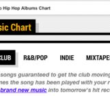 DJ BOOTH's Club Hip Hop Music Chart