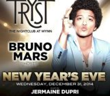 New Year's Eve bash with host @BrunoMars and sounds by @jermainedupri #TrystNYE @trystnghtclub