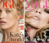 Kate Moss Features On Two Covers Of December Vogue
