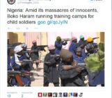Ten-year-olds armed to the teeth and trained to kill in the name of Islam: Boko Haram release images of their child soldiers being trained in Nigeria