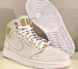 Air Jordan 1 Brooklyn White Caviar Leather