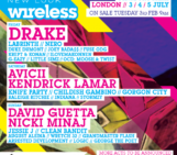 DRAKE TO HEADLINE NEW LOOK WIRELESS FESTIVAL 2015