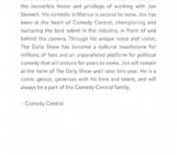 Jon Stewart To Leave The Daily Show on Comedy Central