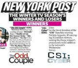 #TheOddCouple and #CSICyber make @nypost's list of Winter TV Winners: