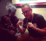 @dangreenpeace Scheming with @jwarhol ( s/o @theglobalgabru – you'll be with us next time bro )