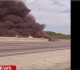 Small plane crashes on Atlanta-area interstate, killing 4