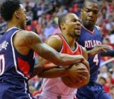 Hawks hold off Wizards to tie series 2-2