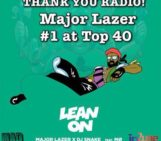 Congrats !!!! first independently released song ever in history to go number 1 at pop radio @MAJORLAZER