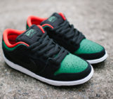 Nike SB Dunk Lows With Green Croc-Skin