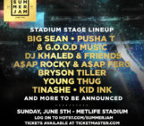Summer Jam 2016 Stadium Stage Lineup