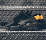 Nike Air Huarache Black and Gold