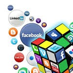 Profile picture of # hashtag social network sign up page